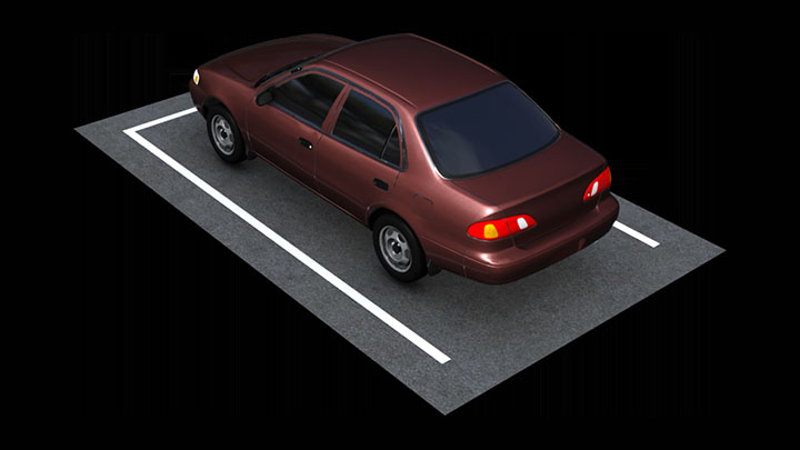rendering of parking spot for a car