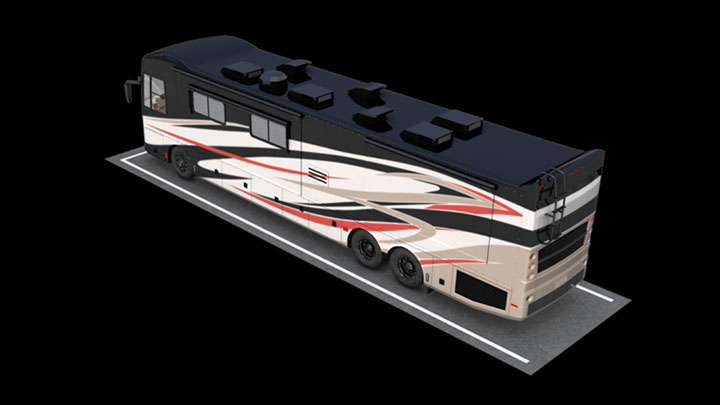 rendering of parking spot for an RV
