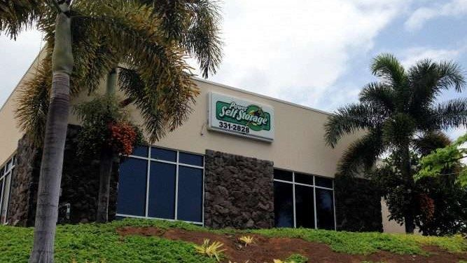 exterior of Power Self Storage facility in Kailua Kona